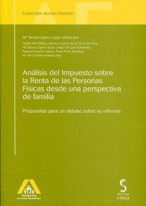 """Libro de la semana... """"Análisis del Impuesto sobre la Renta de las Personas Físicas desde una perspectiva de familia"""" 1"""