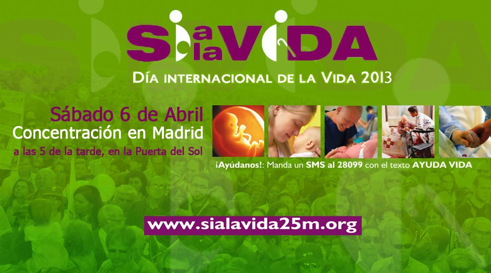 El sábado a las 17.00h te esperamos en Madrid para decir 'Sí a la Vida' 1