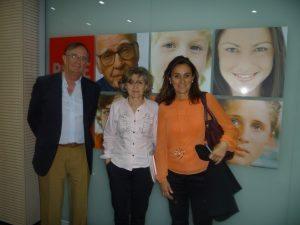 Mariano Calabuig, Luisa Carcedo y Luisa Maldonado