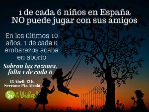 """""""Sobran motivos para la Marcha Sí a la Vida, lo que falta es 1 de cada 6 niños"""" 3"""