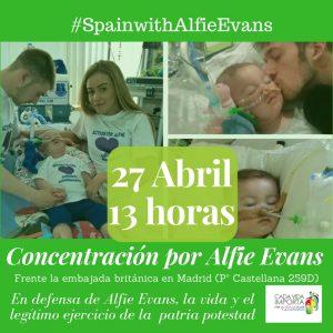 #SpainwithAlfie: Concentración en solidaridad con Alfie Evans 1