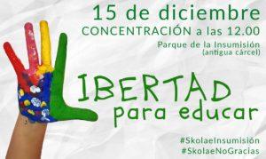 El sábado 15, #SkolaeNoGracias 1
